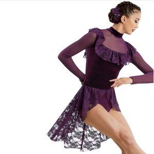 It's Okay Ruffle Unitard Dance Costume